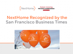 NextHome recognized by the San Francisco Business Times